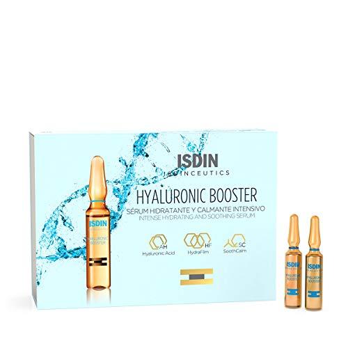 Isdinceutics Hyaluronic Booster, Sérum facial hidratante y calmante intensivo, 10 ampollas