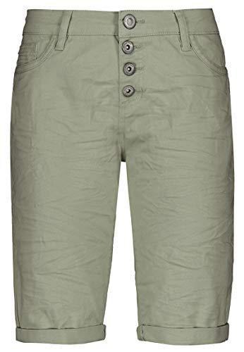 Stitch & Soul Damen Bermuda-Shorts mit Aufschlag Green S