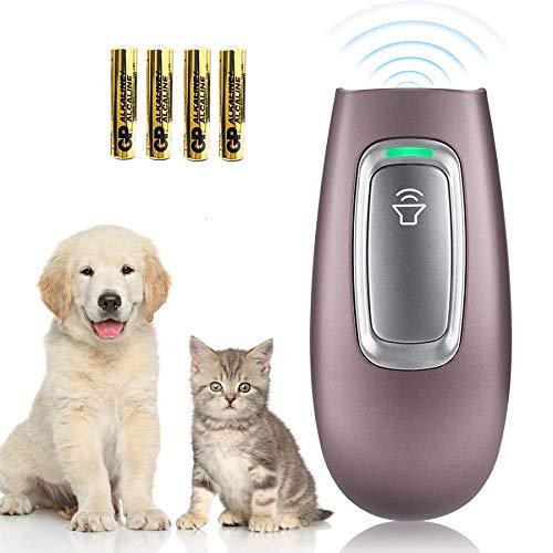 SiBei Antiladridos, Portátiles Ultrasónicos Ahuyentador de Perros Dispositivos, Collar Antiladridos de Rango De 16.4 Pies con 4 Pilas AAA, para Adiestramiento para Perros Pequeños Grandes