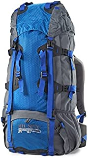 Mil-Spec Adventure Gear Plus MSA15-0168019000 Hiking Backpack, Blue, 70L