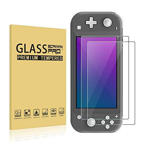 SDTEK *2 Pack Protector de Pantalla para Nintendo Switch Lite Cristal Vidrio Templado Glass Screen Protector