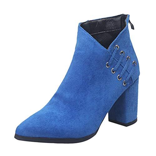 Vovotrade Ankle Boots Elegant suède hoge hak laarzen voor dames