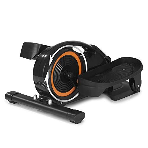 MAXXMEE Ellipsentrainer | Für das Bauch-Beine-Po-Training im Sitzen | Fettverbrennung und erhöhter Kalorienverbrauch beim Trainiern | Platzsparendes Design für Jede Zimmergröße [schwarz]