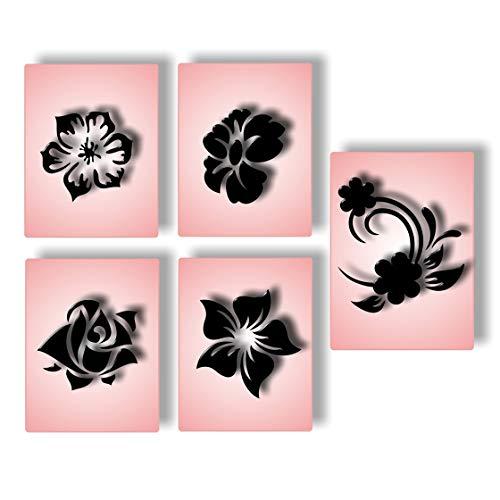Airbrush Schablonen Nailart Fingernagel Schablone selbstklebend - Nail Art für Naildesign Nägel, Fussnägel