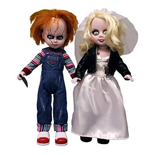 Living Dead Dolls Präsentiert Chucky und Tiffany.