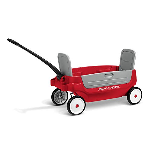 Radio Flyer Grandstand 3-in-1 Wagon, Red
