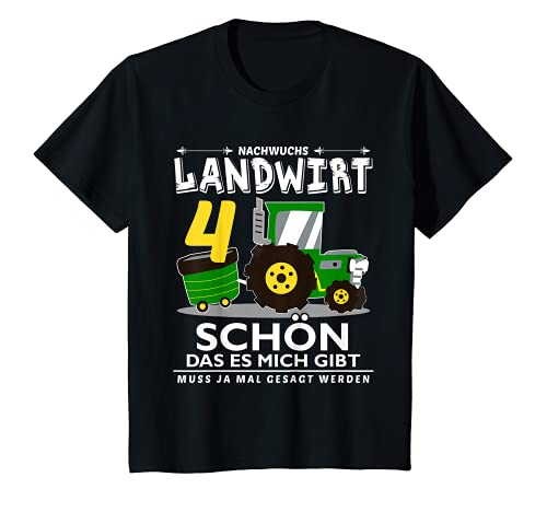 Kinder 4. Geburtstag Junge Ich bin schon 4 Jahre Traktor Trecker T-Shirt