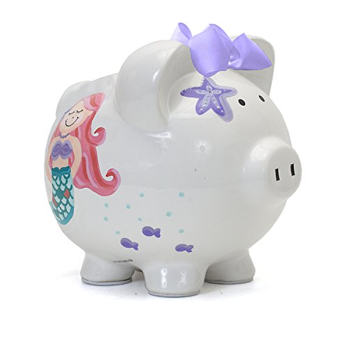 Child to Cherish Ceramic Piggy Bank for Girls, Mermaid