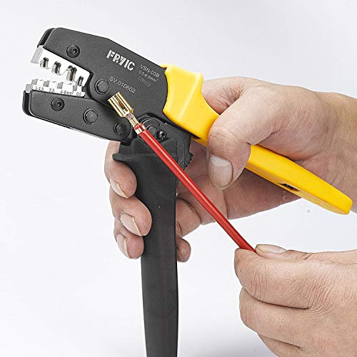 ProsKit 300-005 Eclipse Tools Pros Kit AWG 20-10 Ratcheted Crimper Non-Insulated Open Barrel Terminals Pro/'sKit