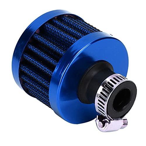 Respiradero del cárter de ventilación Aramox, mini filtro de entrada de aire de 13 mm / 0,5 pulgadas, respiradero del cárter de escape, piezas de automóvil universales(azul)