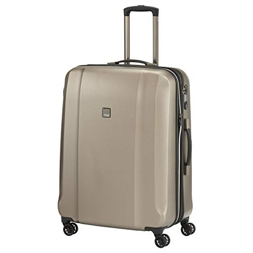 """TITAN Valise trolley \""""Xenon Deluxe\"""" avec 4 roues champagne Koffer, 74 cm, 113 liters, Beige (Champagne)"""