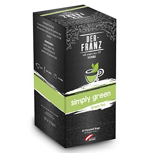 Der Franz Tè verde Simply Green aromatizzato naturalmente in bustine piramidale, 30 x 2.5 g