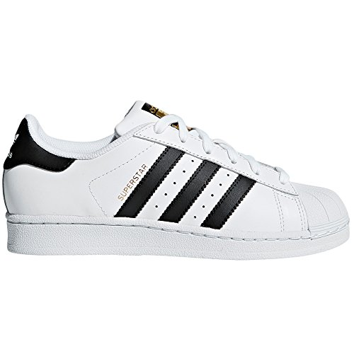 adidas Superstar Autentic Blancas para Mujer de Piel. Sneakers.4g (38 EU, White/Core Black)