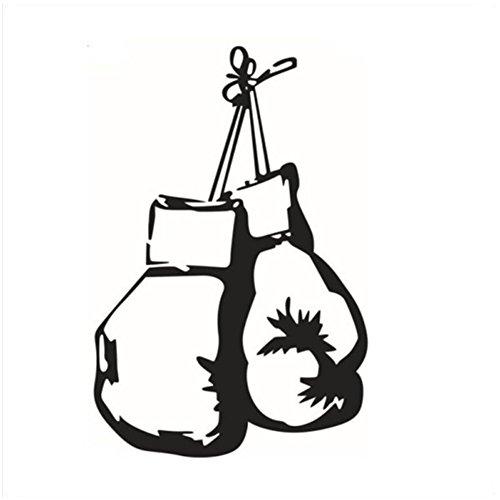 Da.Wa Etiqueta Adhesiva de Pared de Vinilo Diseño Decorativo de Guantes de Boxeo para Cafetería, Restaurante, Cocina, Sala de Estar
