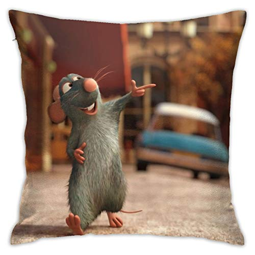 Ratatouilleto - Funda de almohada con cremallera oculta para decoración del hogar, otoño e invierno, sofá, cama, sala de estar