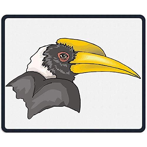 Muismat Cool specht Vogel Art Rechthoek Rubber Mousepad Lengte 18 x 22 CM Gaming Mouse Pad met Zwarte Lock Edge