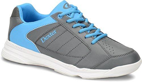 DEXTER Ricky IV Bowling Schuhe für Einsteiger und Profis Größe 38-47 in 3 (Grau/Blau, 42,5)