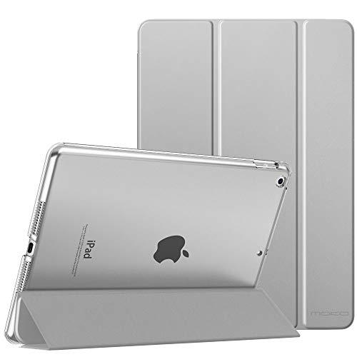 MoKo Schützhülle Kompatibel mit Neu iPad 8. Gen 2020/7. Generation 2019, iPad 10.2 Hülle, Smart Hülle Ständer Transluzent Matt Rückseite Auto Wake/Sleep Kompatibel mit iPad 10.2