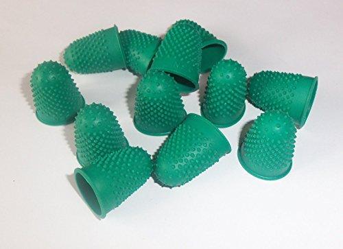 Pack de 24 unidades de dedales de goma para contador de notas, tamaño 0 pequeño, color verde, ideal para el hogar y la oficina, etc.