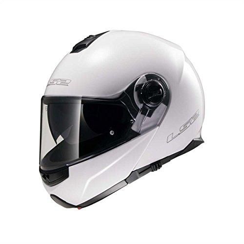 LS2 Casque moto STROBE Blanc - M, Blanc, Taille M