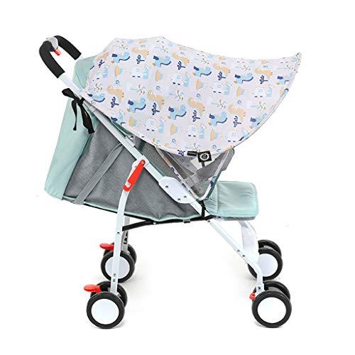 ZZALLLCochecito de bebé Visera para el Sol Cochecito Protector Solar Anti-UV Cubierta de toldo Resistente a la Sombra - Blanco