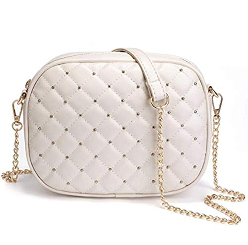 Hanbella White Shoulder Bags for Women and Girls - Soft Faux Leather Handbags Satchels for Teens – Mini Cute Crossbody Purses for Ladies