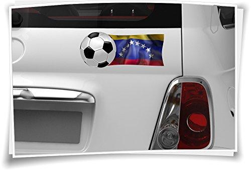 2x Venezuela Flagge Autoaufkleber Fahne Fußball Aufkleber Sport EM WM Spiegel Auto
