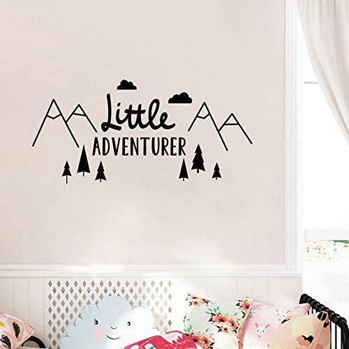 Cyalla Muursticker muursticker Little Adventurer Decal Nordic Nursery behang Decor Vinyl Art Poster 42 * 88Cm