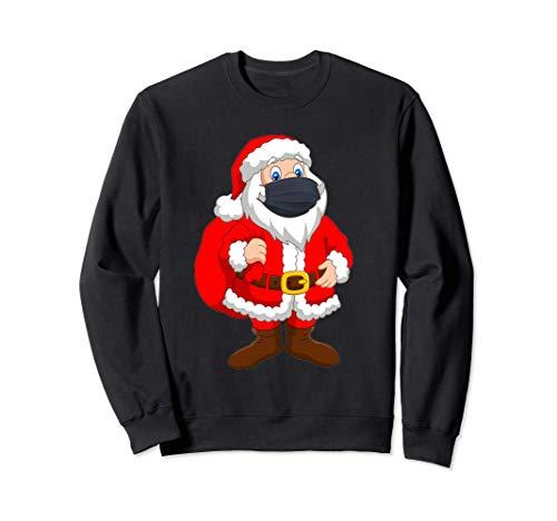 2020 Christmas Quarantine Santa in Face Mask Sweatshirt