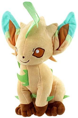 OELPAN Eevee Leafeon Plüschtier 30Cm, Gefüllte Peluche Spielzeug Puppen Geschenke Für Kinder