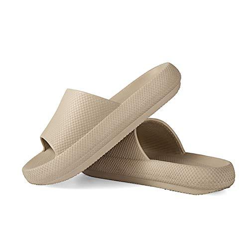 Bomoka Pillow Slides Slippers, Pillow Slides,Unisex Shower Slide Sandal Summer Slippers Non-Slip Soft Pool Slides with Thick Sole,Open Toe Style Slippers,Ultra-Soft Slippers Extra Soft Cloud Shoes