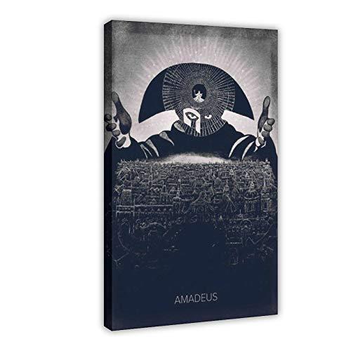 Poster sur toile HD vintage classique Amadeus pour décoration de salon, chambre à coucher, 40 x 60 cm