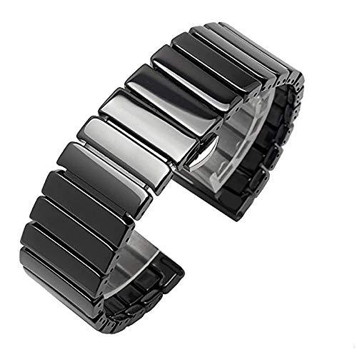 3°Amy Uhrenarmbänder Schnellspanner Keramik Uhrenarmband-Armband #a (Size : 22mm)