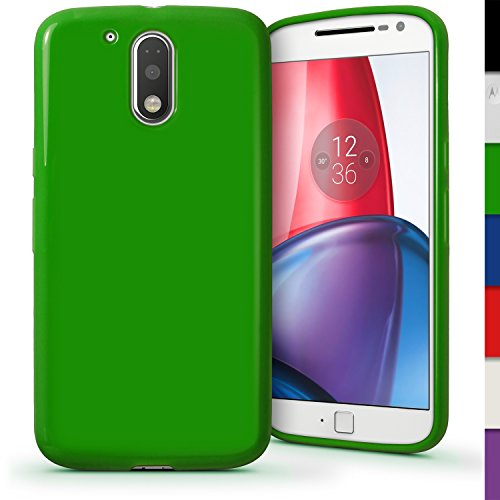 iGadgitz U5386 Funda Compatible con teléfono móvil Verde -(Funda, Motorola, Moto G 4th Gen XT1622 (Moto G4) & G4 Plus XT1644, Verde)