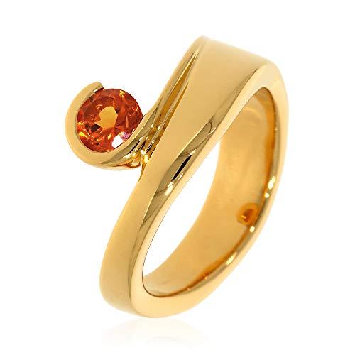 XEN Ring mit 5 mm Madeira Citrin ca. 0,50 ct. gelbvergoldet 56 (17.8)