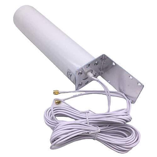 Lood Router Antena Doble Conector SMA 3G 4G LTE Soporte Exterior con Soporte fijo para Pared Antena Amplificador de Señal