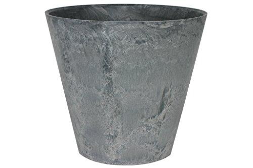 Artstone Pot de Fleurs, Bac à Plante Claire, résistant au Gel et ultraléger, Gris, 43x39cm