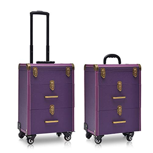 Belle Boîte À Outils De Coiffure Nail Technician Trolley Case Cosmétiques Beauty Trolley Box Travel Makeup Case Storage Box,A