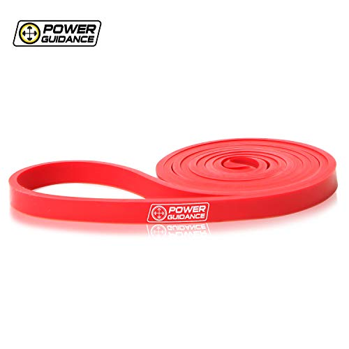 POWER GUIDANCE Pull Up Bands Assisted Pull-up Resistance Exercise - for Body Stretching, Powerlifting, Resistance Training - RED