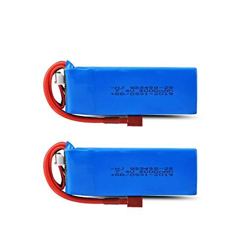 N/V Wltoys 144001 Coche 2s 7,4 V 3000 mAh batería Lipo Mejorada para Wltoys 1/14 144001 RC Coche Barco Lipo batería Piezas mejoradas 2battery