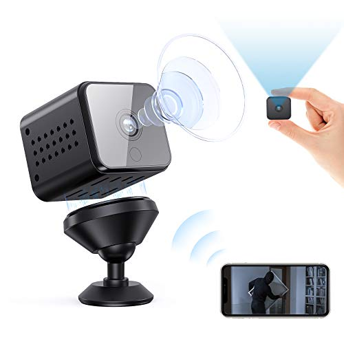 Spy Camera WiFi Mini Hidden Camera Night Vision Motion Detection Smallest Security Surveillance Cameras for Indoor/Warehouse/Home/Apartment/Office