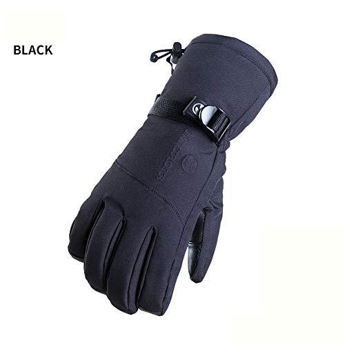 XBAO Skihandschoenen voor winter, waterdicht, antislip, winddicht, warm, ademende handpalm van leer, verstelbaar, beste optie voor heren snowboard skaten, klimmen