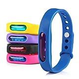 Gwhole Lot de 5 Bracelets Anti Moustique avec Deet Imperméable 100% Naturel Tropical Bracelets...