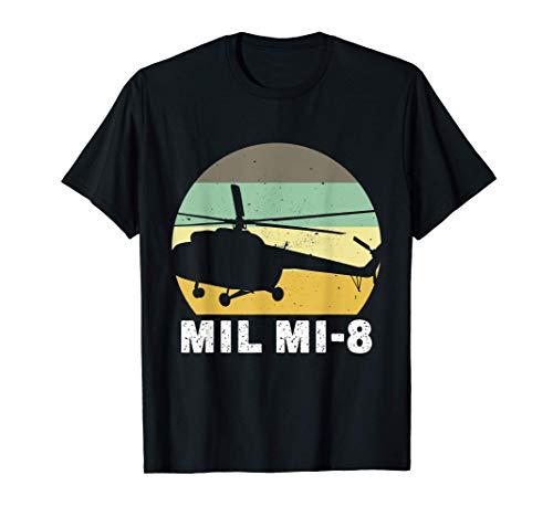 Helicoptero Mil Mi-8 Aviacion Militar Piloto Regalo Camiseta