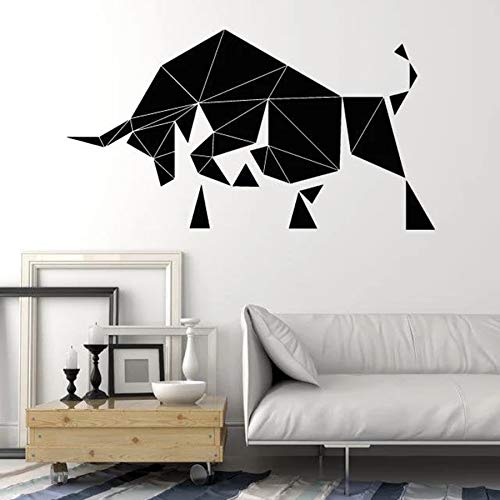 Tianpengyuanshuai Geometrische muurstickers polygonvinylraamstickers slaapkamer woonkamer kantoordecoratie