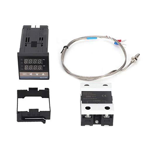 Controlador de temperatura-0-400 ℃ Kit de termostato controlador de temperatura PID LED digital AC110V-240V
