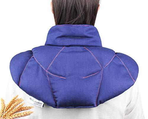 YS-Bio Produkt | Nackenkissen mit Stehkragen. Wärmekissen für den Nacken und Rückenbereich. Größe: 43x40 Soforthilfe bei Nacken-und Rückenschmerzen. Natur-Kollektion (KS040)