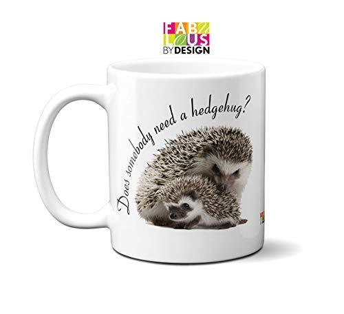 Does somebody need a hedgehug? 11oz Ceramic Mug Coffee Tea Hedgehog Gift