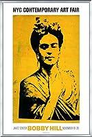 ポスター ボビー ヒル Kahlo 額装品 アルミ製ベーシックフレーム(シルバー)