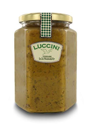 Luccini Salsa Magnabufèt, 750 Grammi, Salse a Base di Verdure di Prima qualità